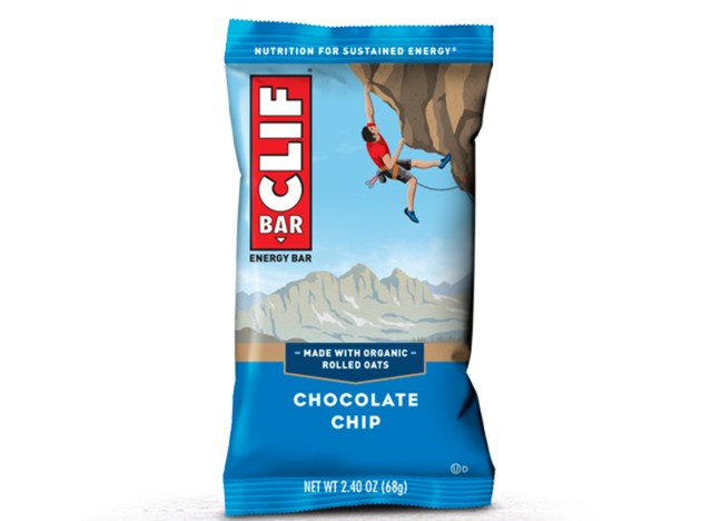 clif bar chocolate chip in packaging